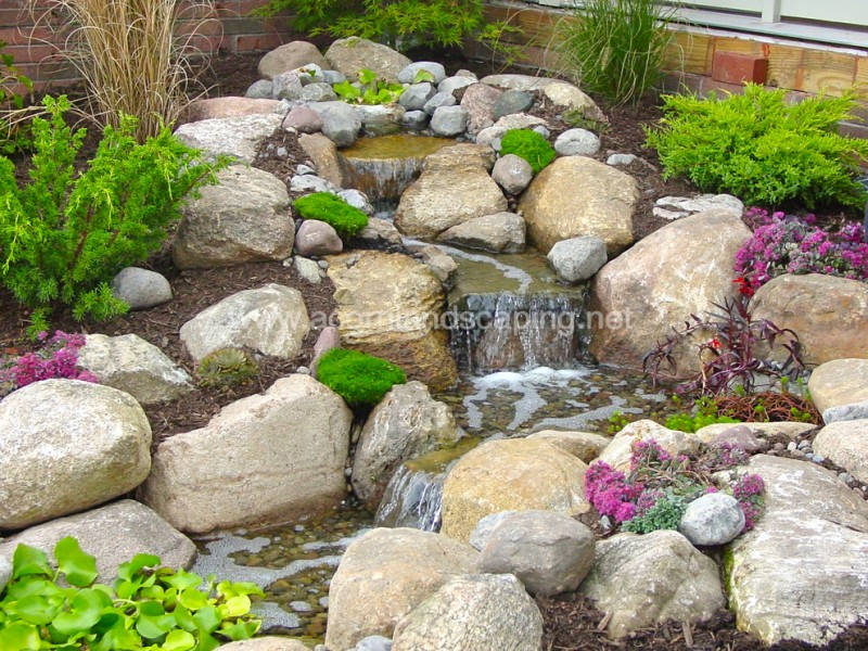 Lowes Henrietta for Traditional Landscape with Small Waterfalls