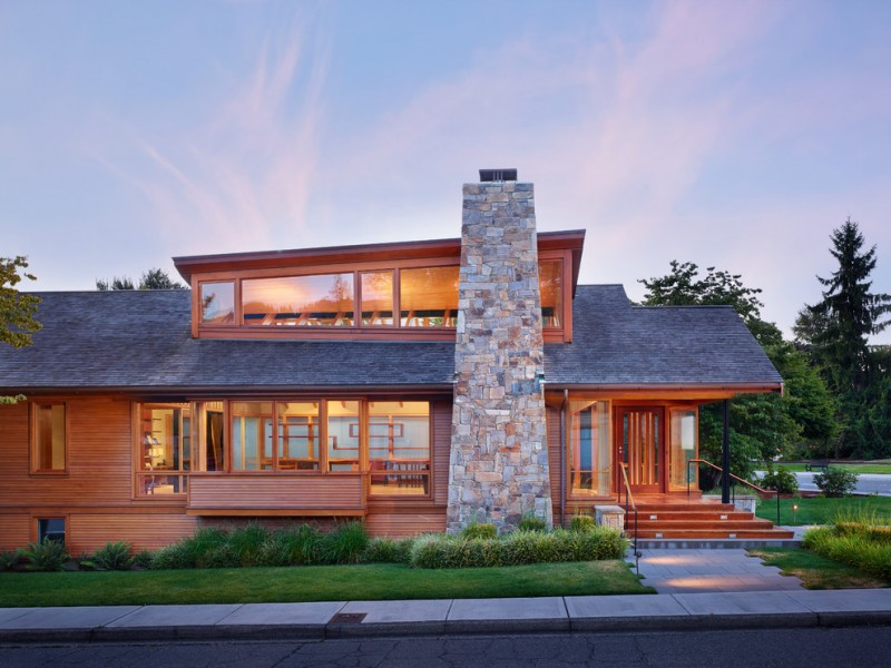 Lowes Issaquah for Modern Exterior with Stone Fireplace