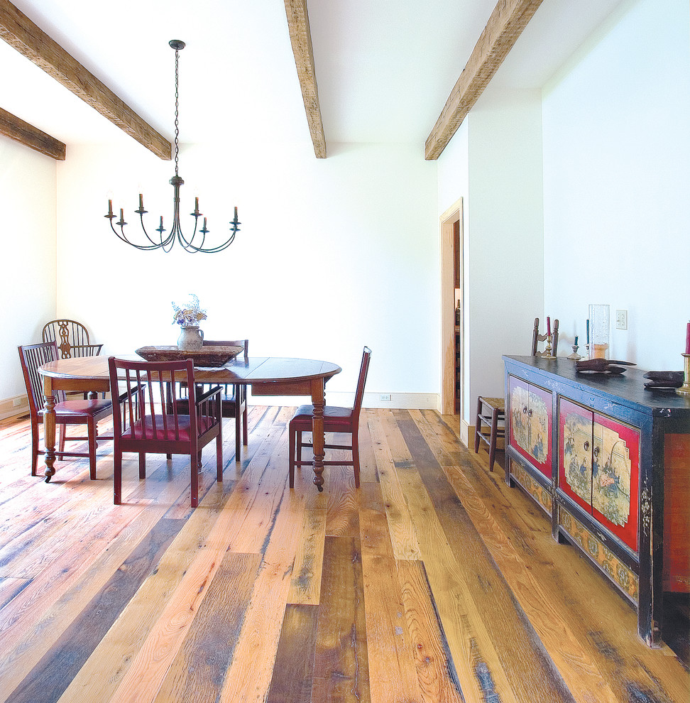 Lowes Langhorne Pa for Rustic Dining Room with White Oak Wide Plank Flooring