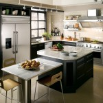 Lowes Lansing Mi for Contemporary Kitchen with Light Beige Granite Countertops