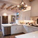 Lowes Santa Fe for Mediterranean Kitchen with Round Wood Beams