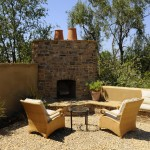 Lowes Santa Fe for Mediterranean Patio with Brick Fireplace Surround