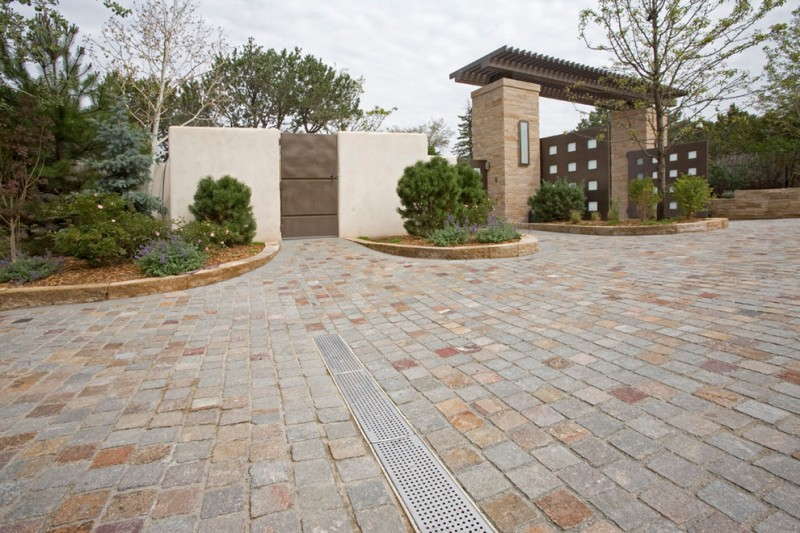 Lowes Santa Fe for Traditional Spaces with Grey Cobblestone Driveway