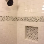 Lowes State College for Contemporary Bathroom with Mosaic Tile Subway Tile Wall Niche
