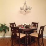 Lowes Whitehall Pa for Contemporary Dining Room with Gunstock Oak Flooring