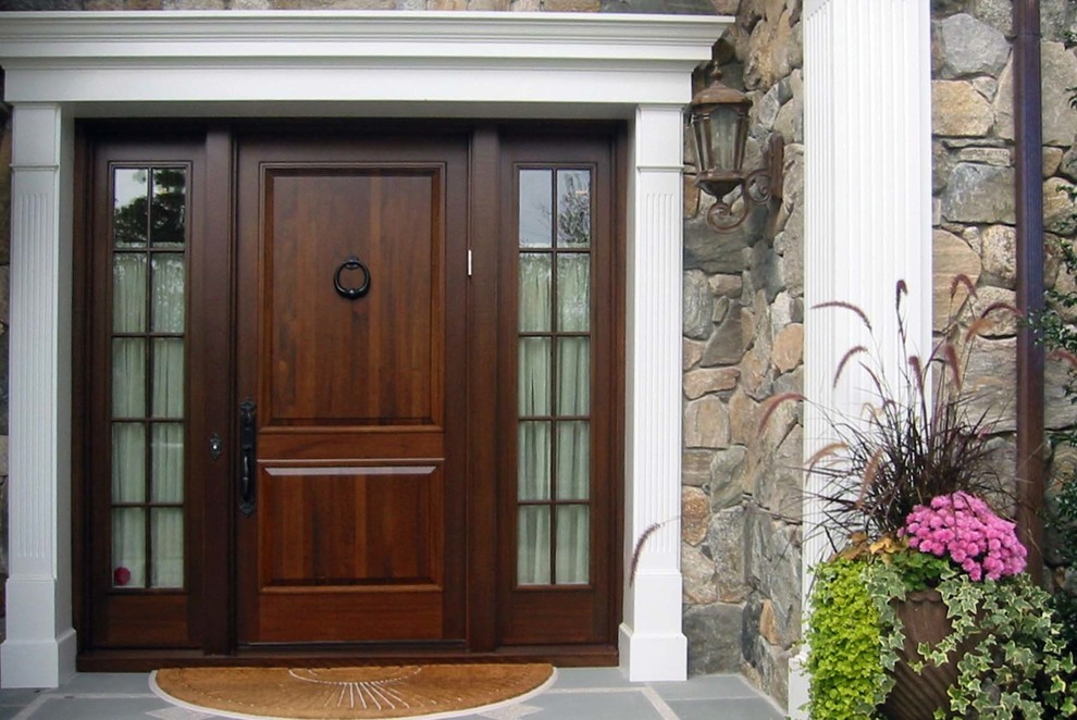 Lumber Liquidators Reviews for Traditional Entry with Door Side Lights
