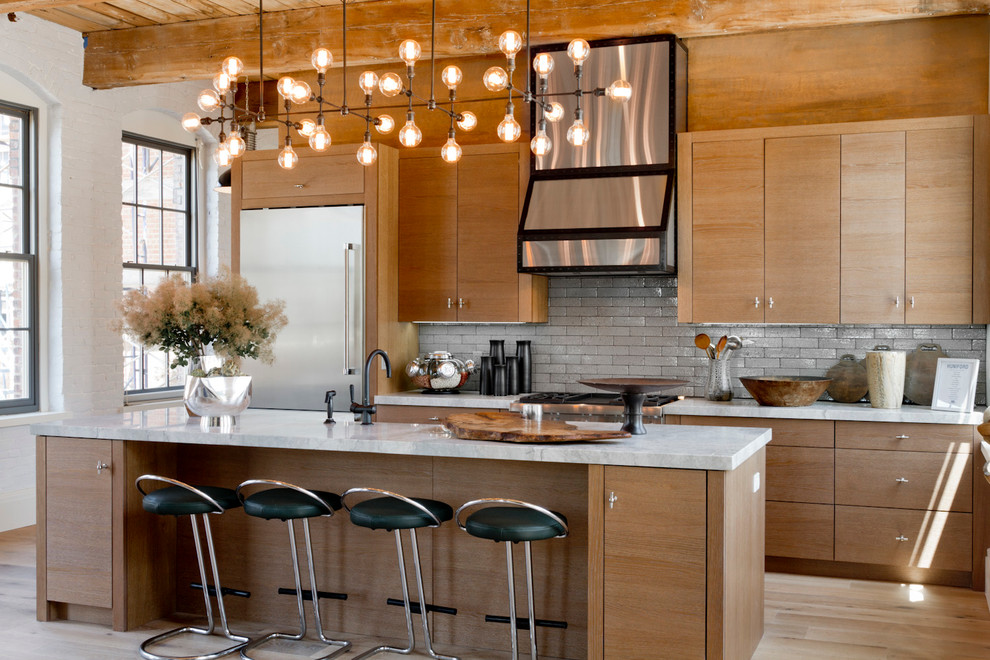 Luminere for Contemporary Kitchen with White Countertop