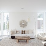 Lunds Minneapolis for Contemporary Living Room with White Beanbag