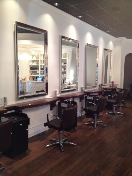 Lux Hair Salon for Traditional Entry with Hardwood Floors