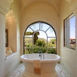 Luxart for Mediterranean Bathroom with Arched Windows