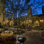 Luxart for Mediterranean Patio with Outdoor Furniture