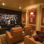 Madison Nj Movie Theater for Contemporary Home Theater with Wall Decor