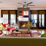 Malouf Furniture for Contemporary Living Room with Mid Century Modern
