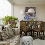 Malouf Furniture for Eclectic Dining Room with White Trim