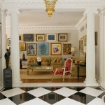 Malouf Furniture for Traditional Living Room with Ornate Molding