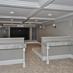 Maplewood Theater for Industrial Basement with Home Theatre Seating