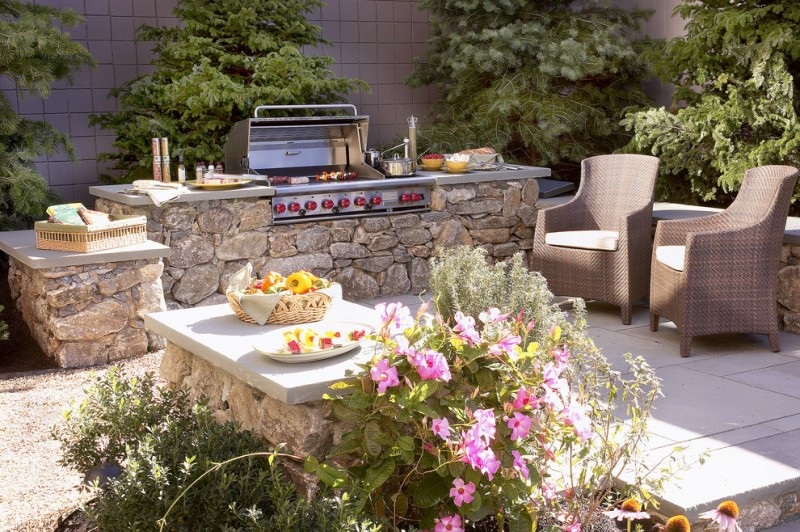 Marbeck Appliance for Tropical Patio with Outdoor Kitchen