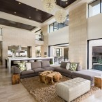 Marquis Furniture for Contemporary Living Room with Recessed Lighting