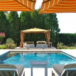 Marquis Furniture for Eclectic Pool with Swimming Pool