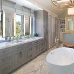 Masterbrand Cabinets for Transitional Bathroom with Marble Countertop