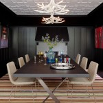 Maxalto for Transitional Dining Room with Ceiling Detail