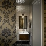 Maya Romanoff for Industrial Bathroom with Neutral Colors