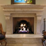 Maya Romanoff for Mediterranean Living Room with Stone Fireplace