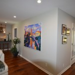 Mayan Hardwood for Contemporary Living Room with Gray Walls