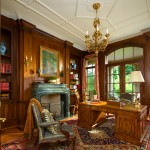 Mayan Hardwood for Traditional Home Office with Coffers