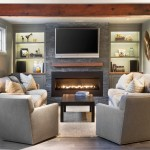 Mayer Electric Supply for Traditional Living Room with Exposed Beams