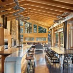 Mazama Country Inn for Contemporary Dining Room with Sloped Ceilings