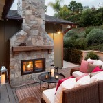 Mcgregor Furniture for Farmhouse Deck with Stone Fireplace