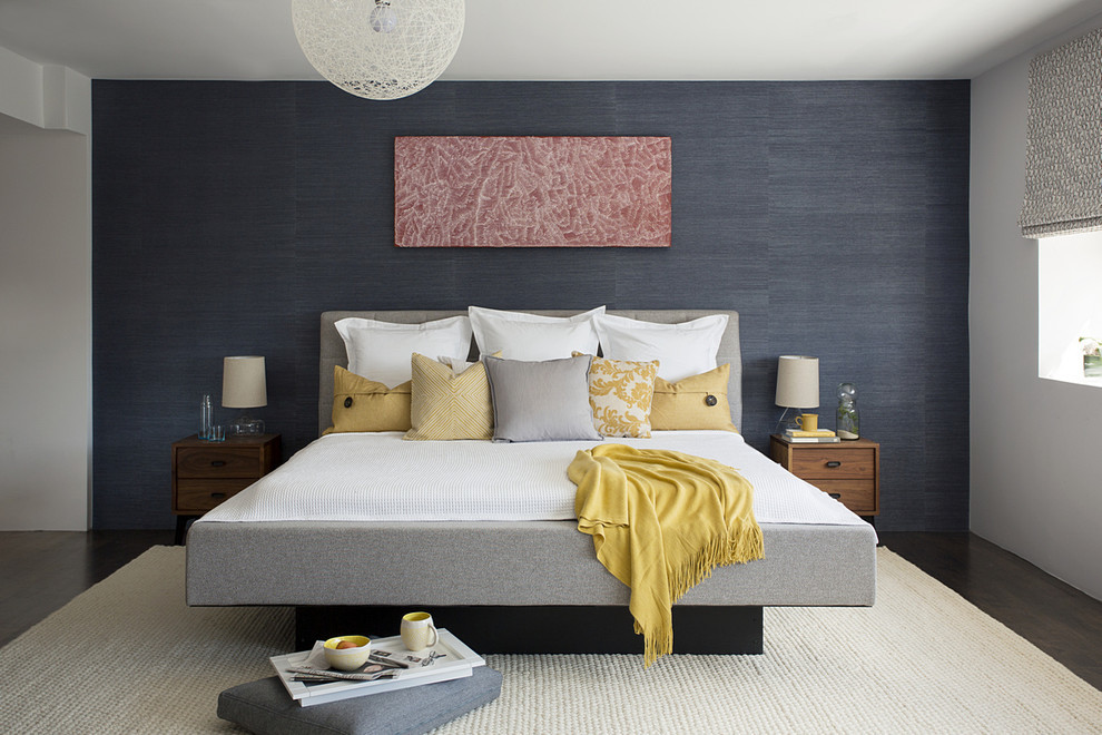 Mdc Wallcovering for Modern Bedroom with Grey Wallpaper