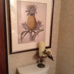 Mdc Wallcovering for Transitional Powder Room with Vinyl Wallcovering