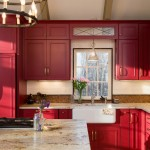 Medallion Cabinets for Farmhouse Kitchen with Yellow Island