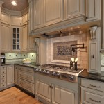 Medallion Cabinets for Traditional Kitchen with Wood Flooring