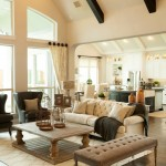 Medallion Homes for Traditional Living Room with Tufted Bench