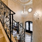 Medallion Homes for Traditional Staircase with Ornate Molding
