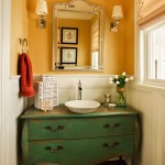Melrose Discount Furniture for Traditional Powder Room with White Wood