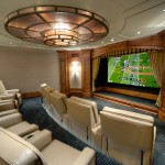 Melrose Park Theater for Traditional Home Theater with Ceiling Light