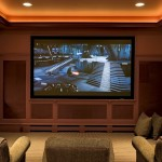 Melrose Park Theater for Traditional Home Theater with Ceiling Lighting