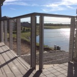 Menards Omaha for Modern Spaces with Contemporary Deck Railing