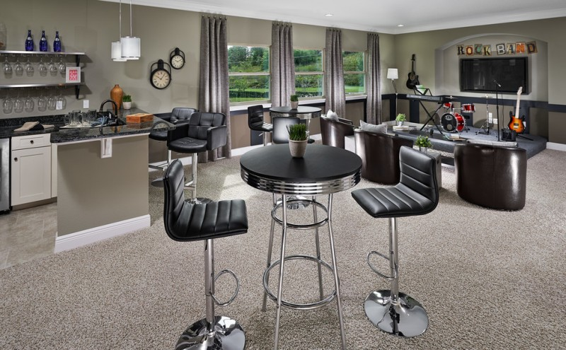Meritage Homes Orlando for Traditional Family Room with Instruments