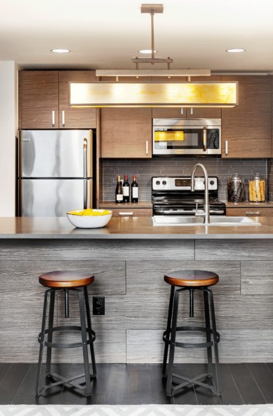Metro Brokers Denver for Contemporary Kitchen with Chandelier
