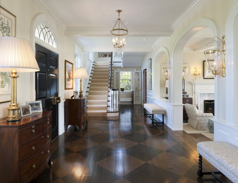 Michaels Flooring for Traditional Entry with Wide Plank Wood Floor