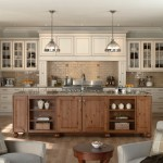 Mid Continent Cabinetry for Transitional Kitchen with Light Aqua Walls