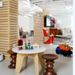 Midwest Basement Systems for Contemporary Basement with Red Chair
