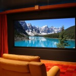 Midwest Basement Systems for Contemporary Home Theater with Built in Storage