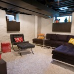 Midwest Basement Systems for Modern Basement with Media Room