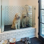 Midwest Homes for Pets for Contemporary Laundry Room with Black Door
